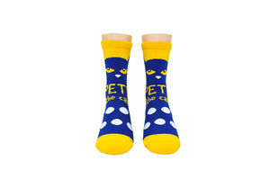 Pete the Cat Kids Polka Dot Crew Socks