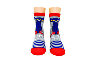 Pete the Cat Adult Striped Crew Socks