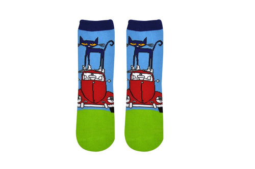 Pete the Cat Bug Kids Socks