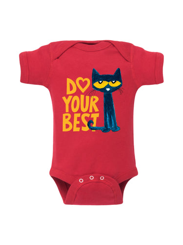 Red Do Your Best Infant Onesie