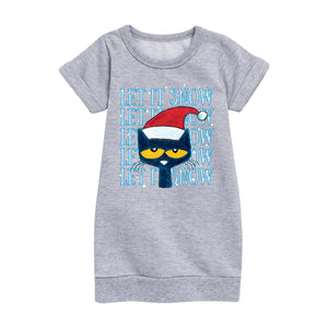 "NEW! ""Let It Snow"" Cozy Holiday Youth Dress"