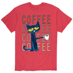 Coffee Coffee Coffee Red Adult Shirt