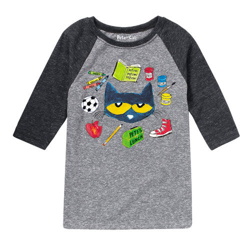 Pete Loves School Youth Baseball Tee- Black Sleeves