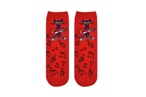 Pete the Cat Guitar Kid Socks
