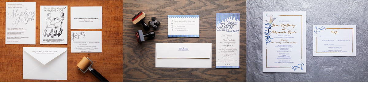 Letterpress invitations. Letterpress Wedding Invitations. Custom Designed wedding invitations.