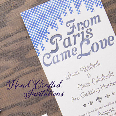 Hand crafted letterpress wedding invitations. Luxurious papers, beautiful designs.