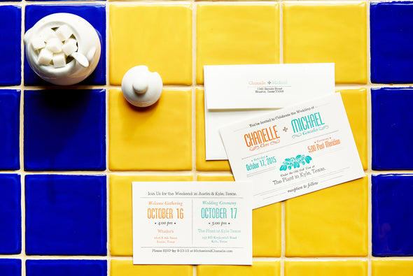 Custom Letterpress Wedding Invitations. Custom designed wedding invitations