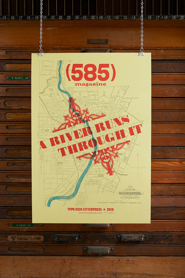 585 Magazine A River Runs Through It Poster