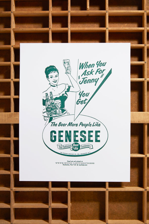 Ask for a Genny Small Letterpress Poster