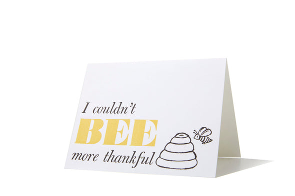Bee Thankful - Thank You Card