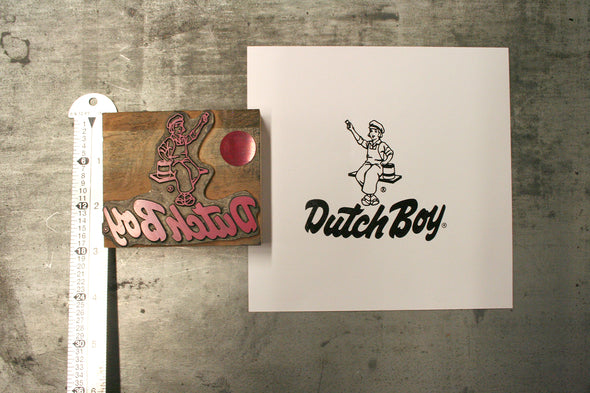 Dutch Boy Paints Letterpress Logo Cut