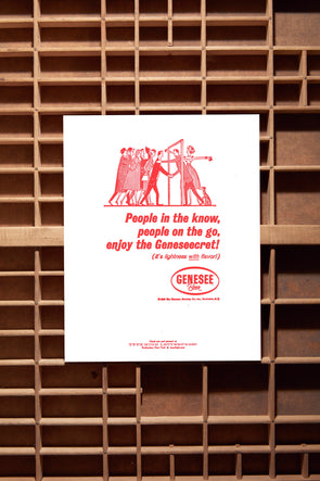 The Geneseecret 1962 Advertising - 8x10 Letterpress Print