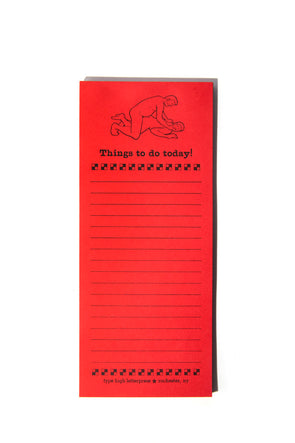 Things to Do Today Gay Men Letterpress Notepad
