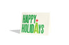 Set of 10 - Happy Holidays 3 Color Letterpress Card