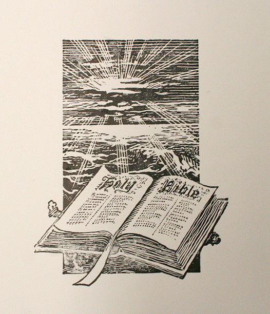 Holy Bible Letterpress Cut
