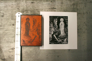 Our Lady of Lourdes Letterpress Electrotype Cut