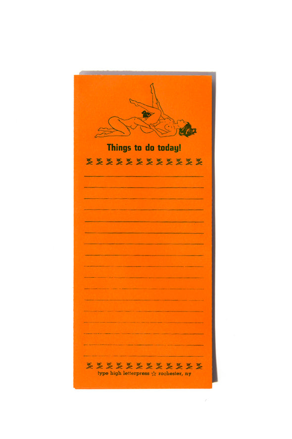 Things to Do Today Lesbian Couple Letterpress Notepad