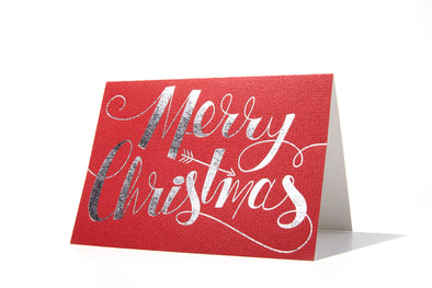 Merry Christmas Foil Stamped Letterpress Card