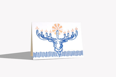 Moose-nora Letterpress and Foil Stamped Card