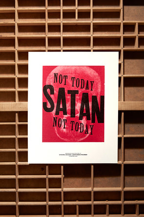 Not Today Satan 8x10 Print