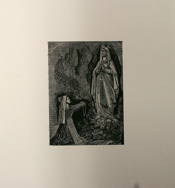 Our Lady Of Lourdes Small Letterpress Electrotype Cut