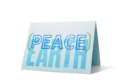 Peace on Earth Letterpress Holiday Card