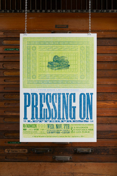 Pressing On Letterpress Movie Letterpress Poster