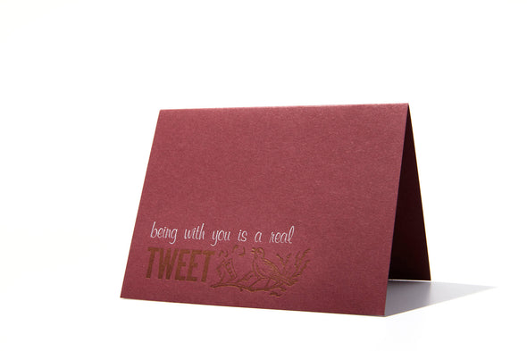 Being with You is a Real Tweet Greeting Card