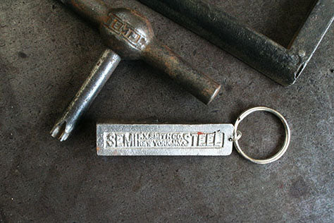 F.X. Smith Co. Semi Steel Quoin Keychain