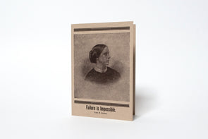 Susan B. Anthony Failure is Impossible Letterpress Greeting Card
