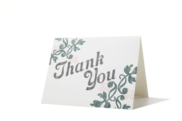 Thank You Card - Leaf Design