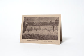 Upper Falls 1830 Rochester NY Letterpress Greeting Card
