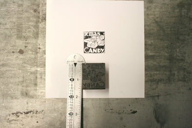 Xmas Candy Letterpress Cut