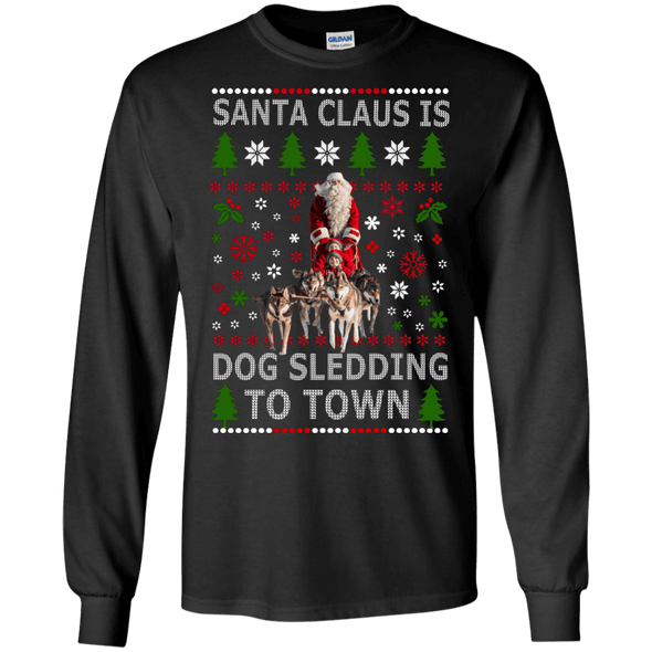 Christmas Shop - Santa Dog Sledding LS