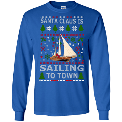 Christmas Shop - Santa Sailing LS