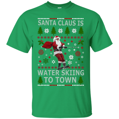 Christmas Shop - Santa Water Skiing Tee