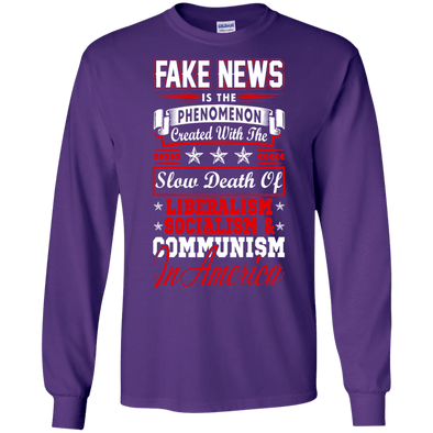 Political - Fake News A LS Tee