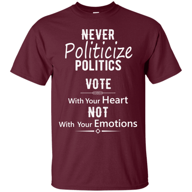 Political - Vote With Heart (1) Tee