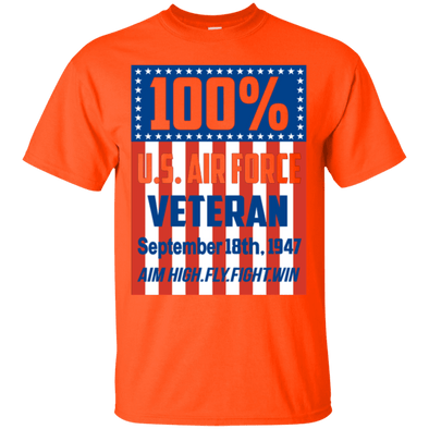 Veteran - 100% Air Force Vet Tee