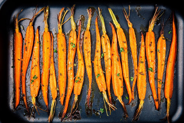 Can dogs eat carrots: baked organic carrots