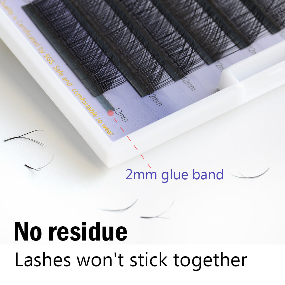 Nagaraku Y Shape Volume Individual Eyelash Extensions For Weaving And Mink Extension Single Size Grafting