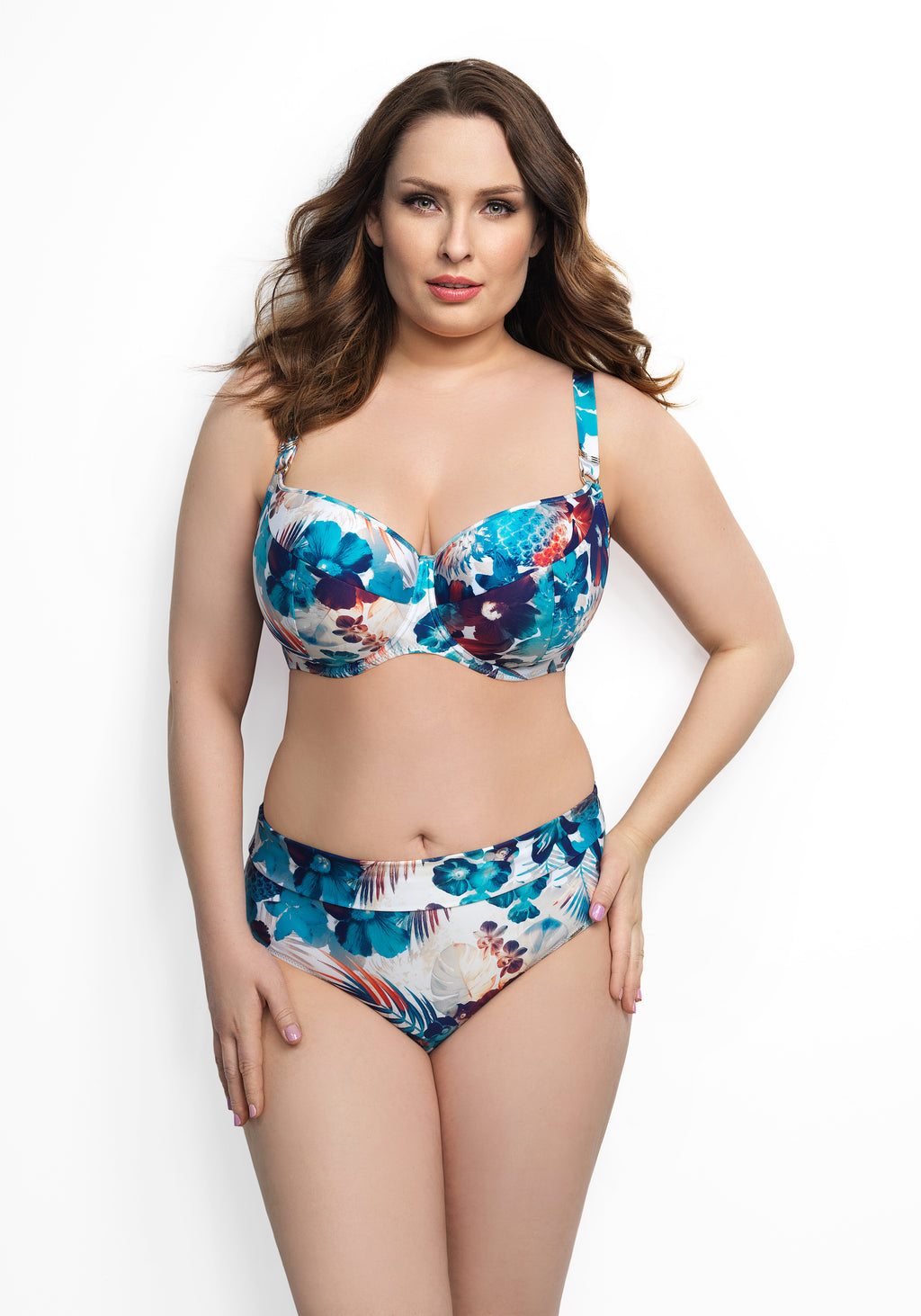 Ikaria by Corin Swimwear | Full Cup Bikini Top Floral - Lalingerie.ca, Canada, lingerie, swimwear, one piece, bikini, bikini top, bikini bottom, bodysuit, Corin, Corin lingerie, Corin swimwear, free shipping across canada with purchase over $75 + tax