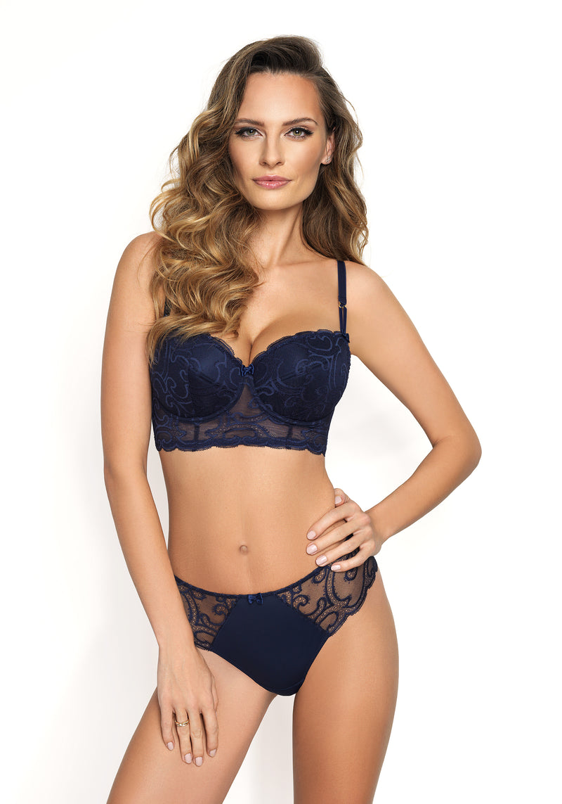 Jessica by Corin Lingerie | Bustier Bras Navy