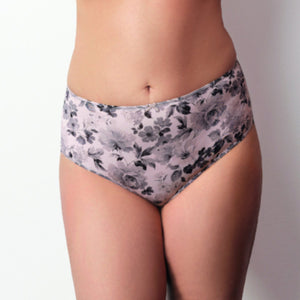 Scarlet by Corin lingerie woman full brief underwear floral purple print 3712 lalingerie.ca canada online shop free shipping