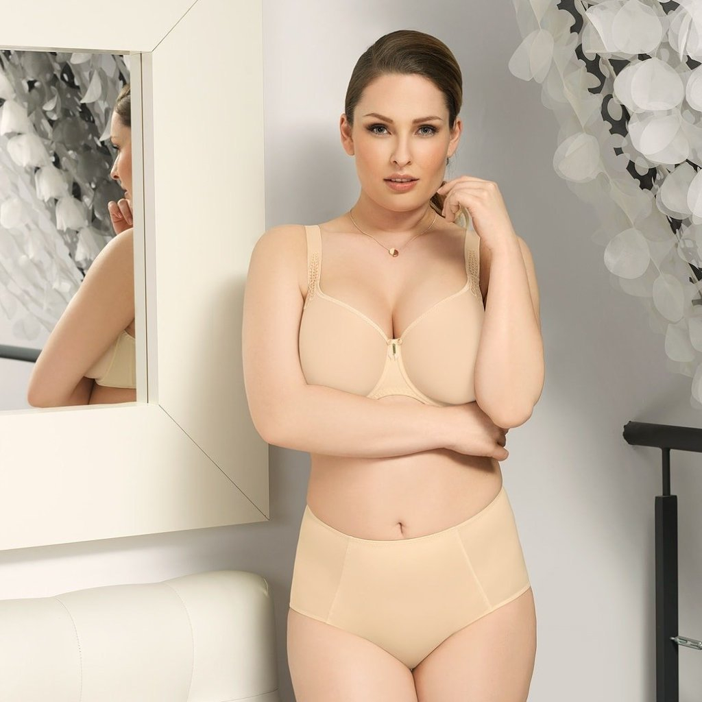 Virginia by Corin Lingerie | Control Panty in skin color matched with the virginia t-shirt bra @lalingerie.ca