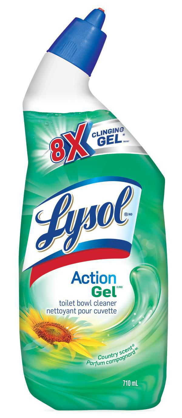 Lysol Power & Fresh Toilet Bowl Cleaner, Cling Gel Country Scent, 24 Oz (Pack Of 2)