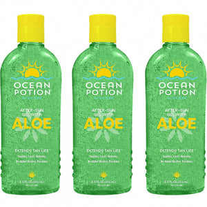Ocean Potion After-Sun Gel with Aloe, 8.5 Ounce (Pack of 3)