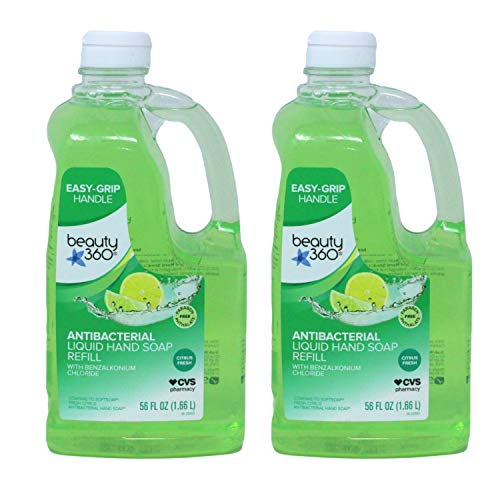 CVS Beauty 360 Antibacterial Liquid Hand Soap Refill, Citrus Fresh, 56 Fl Ounce (Pack of 2)