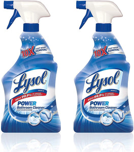 Lysol Power Bathroom Cleaner Spray, Island Breeze, 32 oz (Pack of 2)