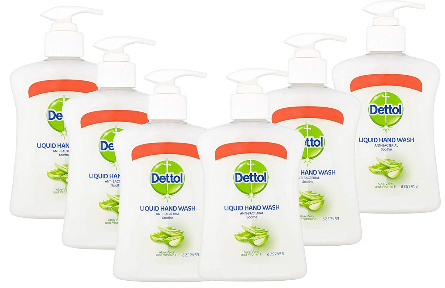 Dettol Liquid Hand Soap, With Aloe Vera and Vitamin E, 8.45 Ounce (Pack of 6)